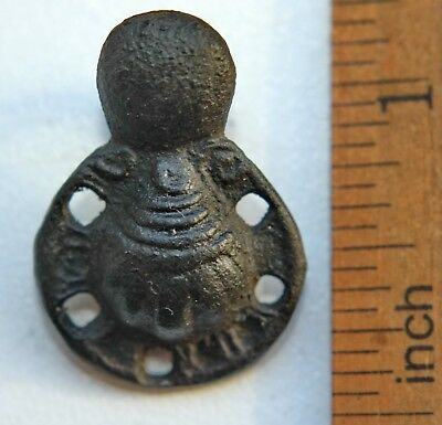 Ancient Medieval Bronze Ornament Pilgrim Shell Buckle (OCR03)