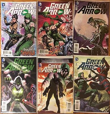 New 52 Green Arrow Comic Book Lot #46-#51 GREAT CONDITION