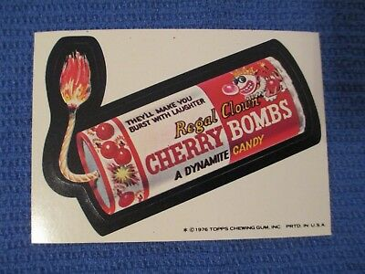 Vintage Wacky Packages 16th Series 16 Cherry Bomb Topps 1976 sticker white back