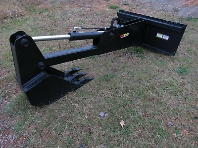 "Skid Steer Stiff Arm Backhoe Attachment with 12"" Tooth Bucket - Ship $199"
