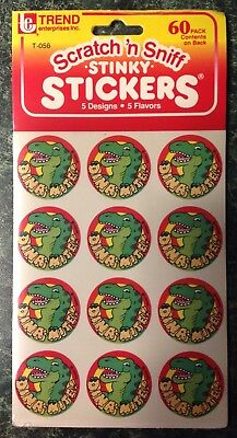 VTG 1989 Trend SRATCH & SNIFF Stinky Stickers 5 Sheet Pack Sealed 80s RARE~GIFT!
