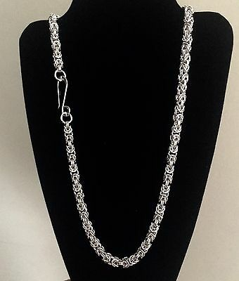 SALE: Byzantine Argentium Sterling Chainmaille Necklace 24 Inches