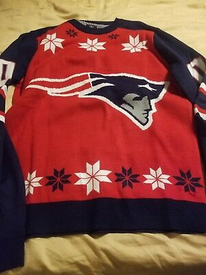 FOREVER COLLECTIBLES NFL Men s New England Patriots Printed Ugly ... b5431784b