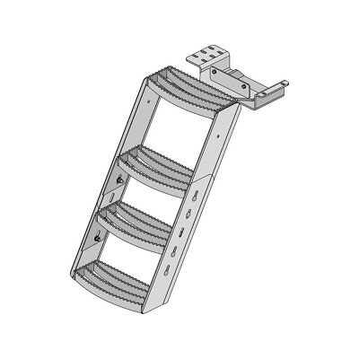 Case 2090, 2290, 2390, 2590 Tractor Step # 3301 4 Step Safety