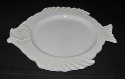 Tiffany & Co. Ceramic Pottery Terra Cotta Fish Plate or Platter, 12""