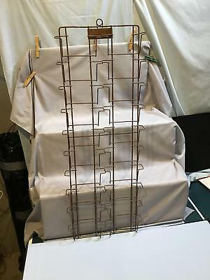 Postcard Wire wall Display Rack 20 places mfg. by Atlas
