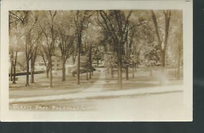 Nice Early Rppc View Of Talcott Park In Rockville, Ct 1929