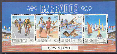Barbados 1988 Summer Olympics set Sc# 727-30a NH