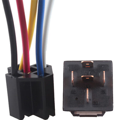 DC Car Vehicle 12V Volt 80A AMP Transparent Relay & Socket SPDT 5Pin 5Wire Sales