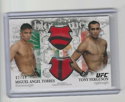 2012 Topps Bloodlines Ufc Torres / Ferguson Event Used 2/88 Sp     A1251