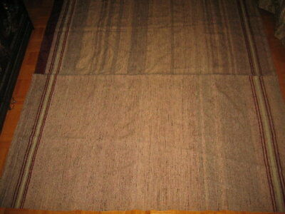 (# 07) Vint.Circa - HOMESPUN Blanket,100% wool  two panels