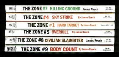 James Rouch // Zone  –  Lot Of 6 Paperback Novels