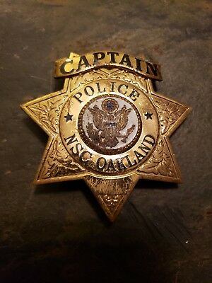 Naval Supply Center Police Captain Badge