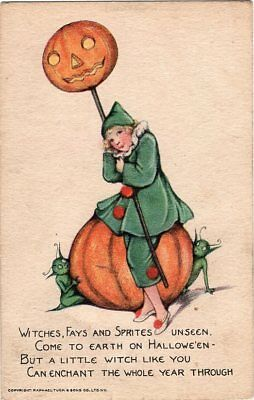 Halloween Postcard, Published By Tuck Raphael & Sons, Series 100, Smucker.