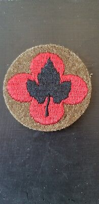 1920s 30s Inter War WWII US Army 43rd Infantry Division Wool Patch Excellent