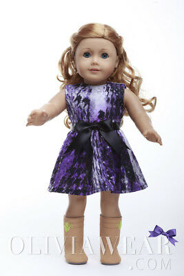 Doll Clothes Fits American Girl 18inch Dress - FREE SHIPPING FROM USA #001