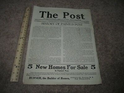1917 History of Painted Post New York NY Newspaper