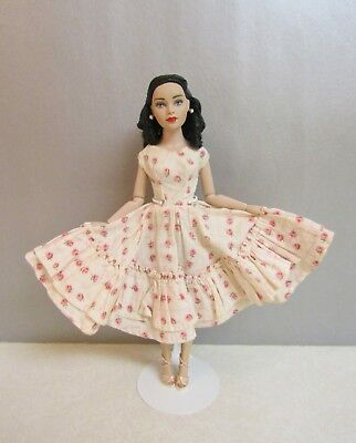 "Vintage Outfit for Tonner 10"" Tiny Kitty Romantic Pink Roses Dress & Shoes"