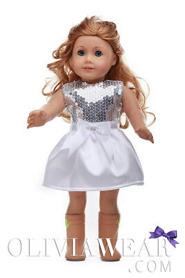 Doll Clothes Fits American Girl 18inch Dress - FREE SHIPPING FROM USA #006
