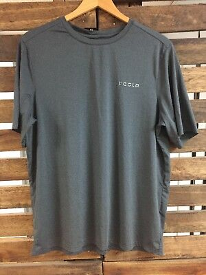 Mens Tesla Gray short sleeve Shirt W/ Tesla Logo