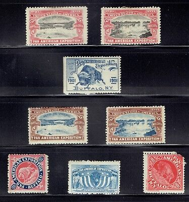 Pan American Exposition 1901 Poster Cinderella Stamps Selection