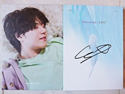 Signed Got7 Official Present You Album Yugyeom Mwave Mnet Kpop Lullaby Cd Jyp