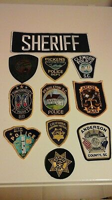 Law Enforcement Agency Patches Assortment Of 11