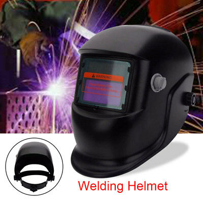 Solar Powered Auto-Darkening Adjustable Welding Helmet Grinding TIG Welder Mask