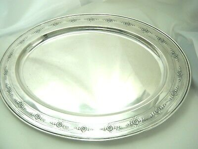 """Madame D'arblay  Sterling Silver 18"""" Large Tray Meriden Brittania 37 Ozt"""