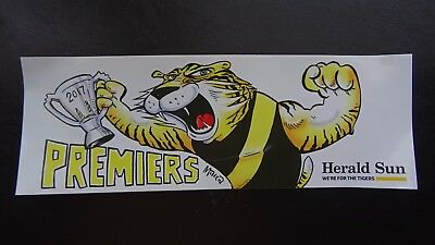 2017 AFL Grand Final Richmond Tigers Banners Sticker Herald Sun Car Bumper