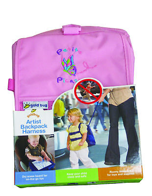 Artist Backpack Harness Pink - keep your child close and safe - dry erase board