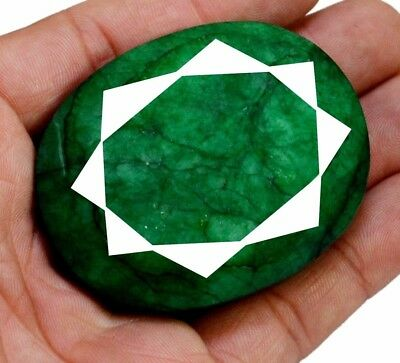 543ct Big Natural Oval Shape Green Emerald Faceted Loose Gemstone On Ebay