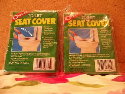 Astounding Lot Of 2 Coleman Toilet Seat Covers 012317100 5 00 Caraccident5 Cool Chair Designs And Ideas Caraccident5Info