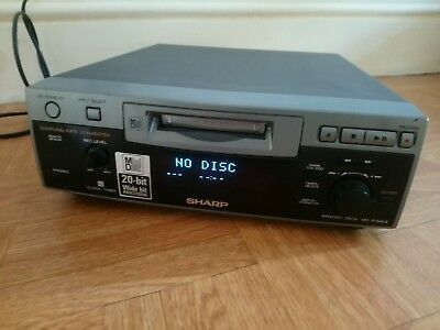 Sharp MD-R1mk2 Mini Disc Recorder Player With Sampling Rate Converter FAULTY