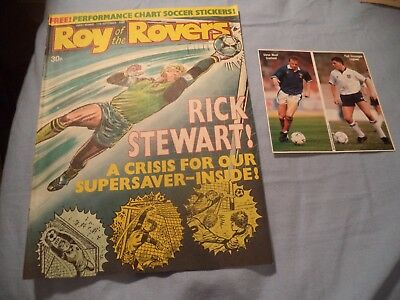 Vintage Roy Of The Rovers Comic With   Free Gift Soccer Stickers