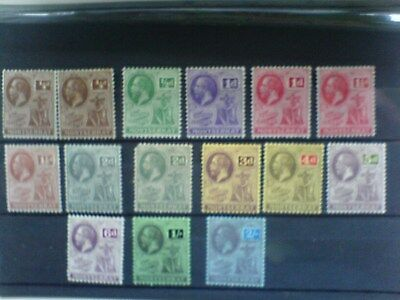 Montserrat KGV 1922 - 29 Selection of 15 Stamps to 2/- MM