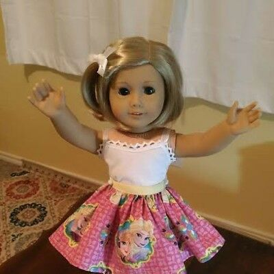 For 18 inch AMERICAN GIRL DOLL ~ SKIRT DISNEY FROZEN SISTERS DOLL CLOTHES ~ 4822
