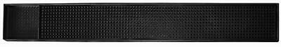 "Black Mat Bar Rubber Service 23.5""x 3.25"" Spill Drink Vodka Beer Table Cover New"