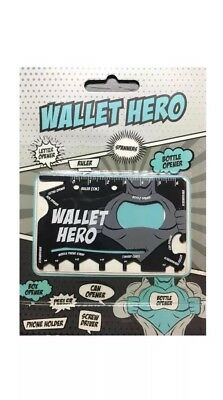 Wallet Hero 18-In-1 Tool Steel Pocket Screwdriver Bottle Opener Ninja Gadget