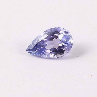 0.90 Cts Blue Tanzanit Loose Gems Stone  Pear Shaped Faceted