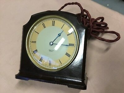 Bakelite Smith's Sectric Mantle Clock made in England 1949
