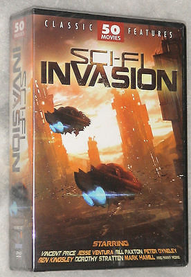 Sci-Fi Invasion - 50 Science Fiction Movies DVD Box-Set Neue & Versiegelten