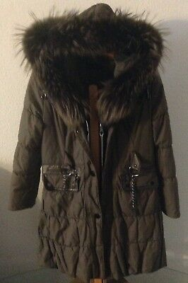 DAVID MOORE DAMEN Mantel Winter Pelz Echtpelz Gr .40 Parka