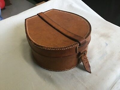 Antique Leather Collar Box marked A.J. Stiles