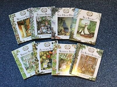 BRAMBLY HEDGE by Jill Barkley SET OF 8 BOOKS. NEW