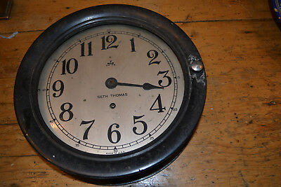 8 day bakelite bulkhead clock by seth thomas 1942? for restoration