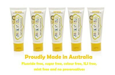 Jack n Jill Toothpaste made from all natural ingredients, Organic BANANA x 5