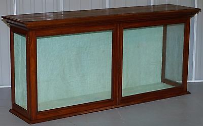 Lovely Victorian Mahogany Retail Shop Display Cabinet Counter Original Glazing