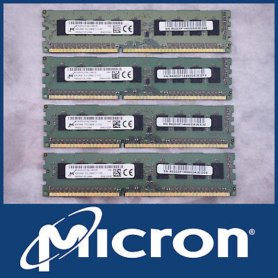 Micron 16Gb 4X 4Gb Ddr3-1600 Pc3-12800E Ecc Server Ram Memory