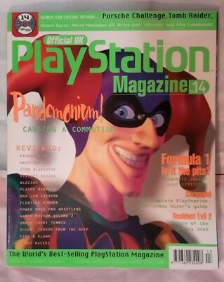 Official UK PlayStation Magazine With demo disc PS1 retro Issue 14 December 1996